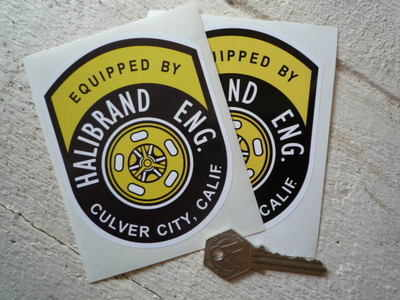 """Halibrand Eng. Equipped By Stickers. 4.5"""" or 6.5"""" Pair."""