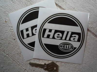 Hella Black & Clear Round Stickers. 4