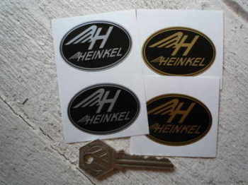 "Heinkel Oval Stickers. 2"" Pair."