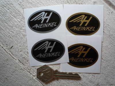 """Heinkel Oval Stickers. 2"""" Pair."""