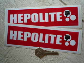 "Hepolite Red Oblong Stickers. 8"" Pair."