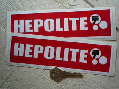 """Hepolite Red Oblong Stickers. 8"""" Pair."""