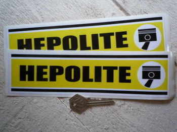 "Hepolite Yellow Oblong Stickers. 9"" Pair."