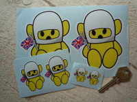 Hesketh Teddy Bear Yellow Stickers. 1