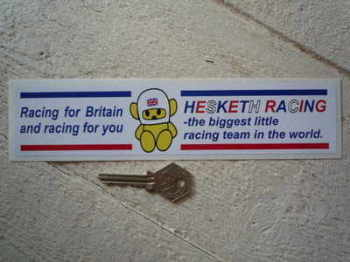 "Hesketh. Racing For Britain Sticker. 8.5""."