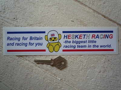 """Hesketh. Racing For Britain Sticker. 8.5""""."""