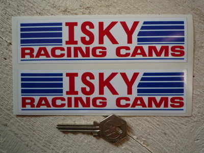 Isky Racing Cams. Oblong Stickers. 6