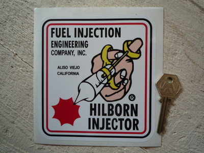 """Hilborn Fuel Injector Sticker. 5""""."""