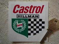 "Hillman Castrol Shield Sticker. 3""."