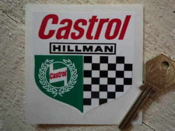 "Hillman Castrol Shield Sticker. 3""."