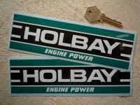 Holbay Engine Power Oblong Stickers. 3.75