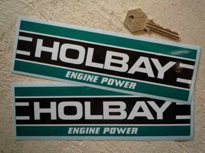 "Holbay Engine Power Oblong Stickers. 3.75"" or 8"" Pair."