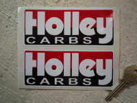 Holley Carbs Oblong Stickers. 5