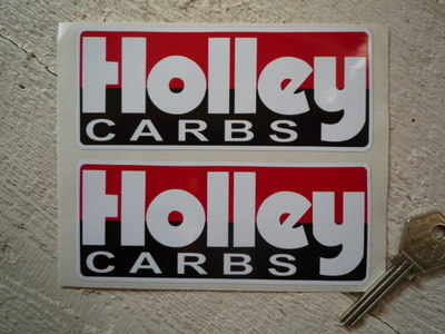 "Holley Carbs Oblong Stickers. 5"" Pair."