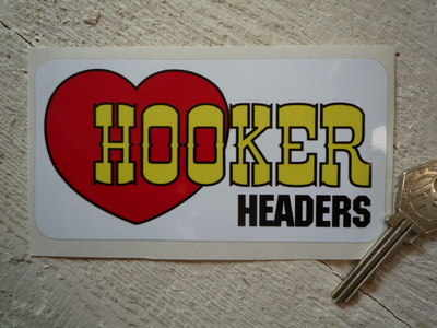 """Hooker Headers Oblong Sticker. 5""""."""