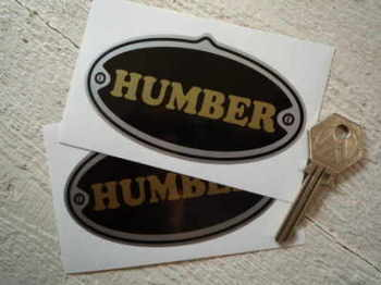 "Humber Oval Stickers. 4"" Pair."