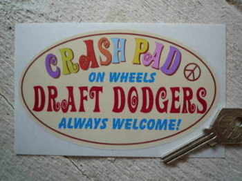 "Crash Pad & Draft Dodgers 70's Theme Sticker. 5.5""."