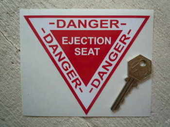 "Danger Ejector Ejection Seat Sticker. 5""."
