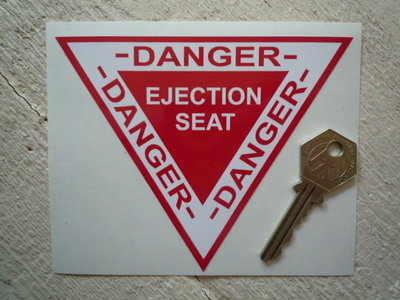 "Danger Ejector Ejection Seat Sticker. 5""."