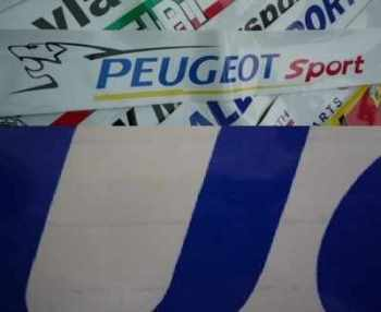 "Peugeot Sport Screen Top Sun Strip. 52"". Slight Second 001."