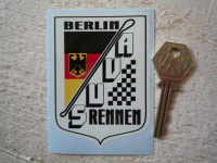 AVUS Rennen Berlin Road Circuit Sticker. 2.5
