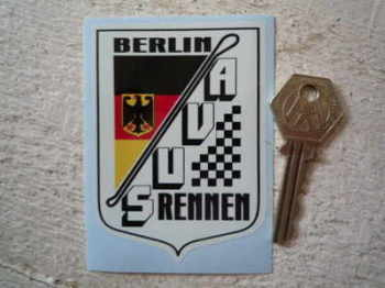 "AVUS Rennen Berlin Road Circuit Sticker. 2.5""."