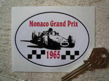 "Monaco Grand Prix 1965 Circuit Sticker. 3.5""."