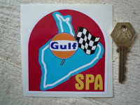 Spa Race Circuit Gulf Sticker. 3.5