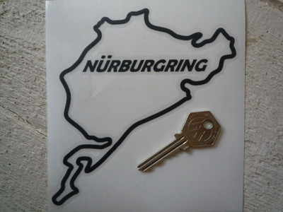 "Nurburgring Cut Out Circuit Sticker. 5""."