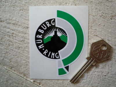 "Nurburgring Traditional Circuit Sticker. 2.5""."