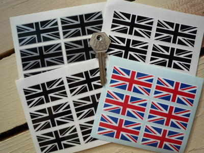 Union Jack Stickers. Set of 6. 2