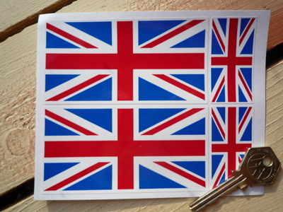 Union Jack Stickers. Set of 4.