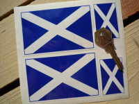 Scottish Saltire Flag. Set of 4.