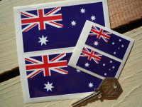 Australian Flag Stickers. Set of 4.
