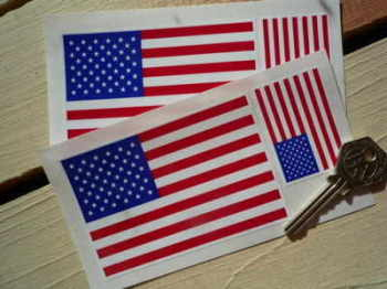 USA Stars & Stripes Flag Stickers. Set of 4.