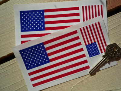 USA Stars & Stripes Flag Stickers. Set of 4.