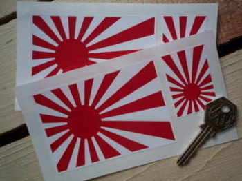 Japanese Navy Flag Stickers. Set of 4.