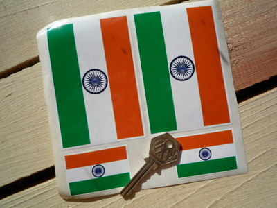 India Flag Stickers. Set of 4.