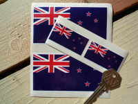 New Zealand Flag Sticker. Set of 4.