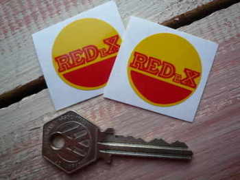 "RedEx Circular Stickers. 1.25"" Pair."