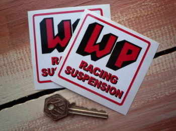 "WP Racing Suspension Stickers. 2.75"" Pair."