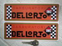 Dellorto Carburatori Inc Orange with Green Line Oblong Stickers. 8