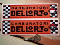 Dellorto Carburatori Inc Orange Oblong Stickers. 5