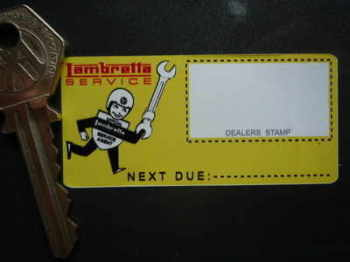 "Lambretta 'Official Service Agent' Sticker. 2.75""."