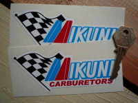 "Mikuni Carburetors Colour Stickers. 5"" Pair."
