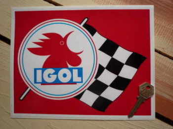"Igol Oil Huiles Sticker. 9""."