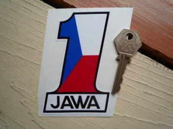 """Jawa Speedway No. 1 Sticker. 4""""."""