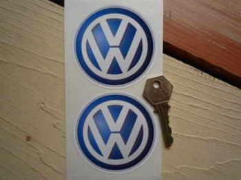 """Volkswagen VW Modern Logo Stickers. 3"""" Pair."""