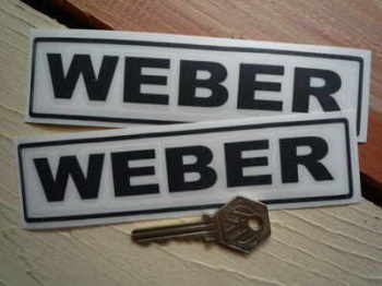 "Weber Cut Text & Outline Stickers. 6"" Pair."