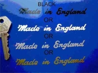 Made in England Sticker. Cut Vinyl.  4